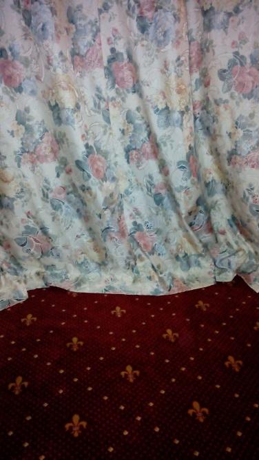 Teppich und Vorhang - irgendwie tut mir die farbwahl a bisi weh...aber Geschmäcker sand ja bekanntlich verschieden.