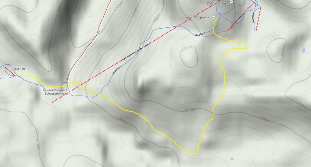 Quelle: Google Maps || Unsere Wanderung durch das Karstgebiet